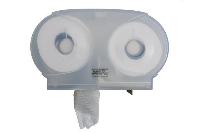 Dispensador de papel higiénico de doble salida