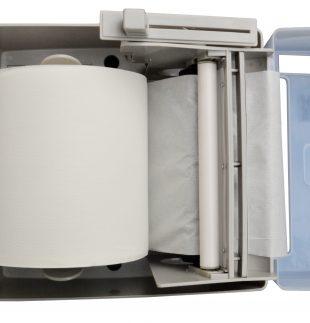 Dispenser de toalla en rollo o bobina con autocorte de perilla (abierto)| Texcel