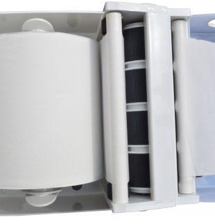 Dispenser de toalla en rollo y bobina con autocorte (abierto) | Texcel