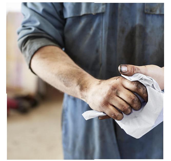 Papel para secado de manos en mecánicas | Productos de Limpieza | TEXCEL