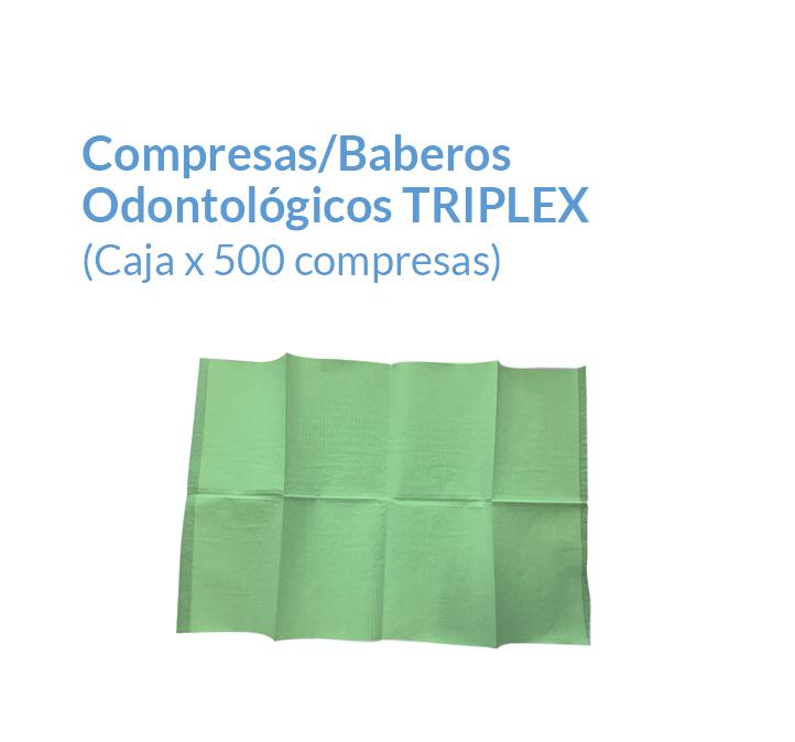 Compresas Triple capa Color verde quirúrgico | Texcel