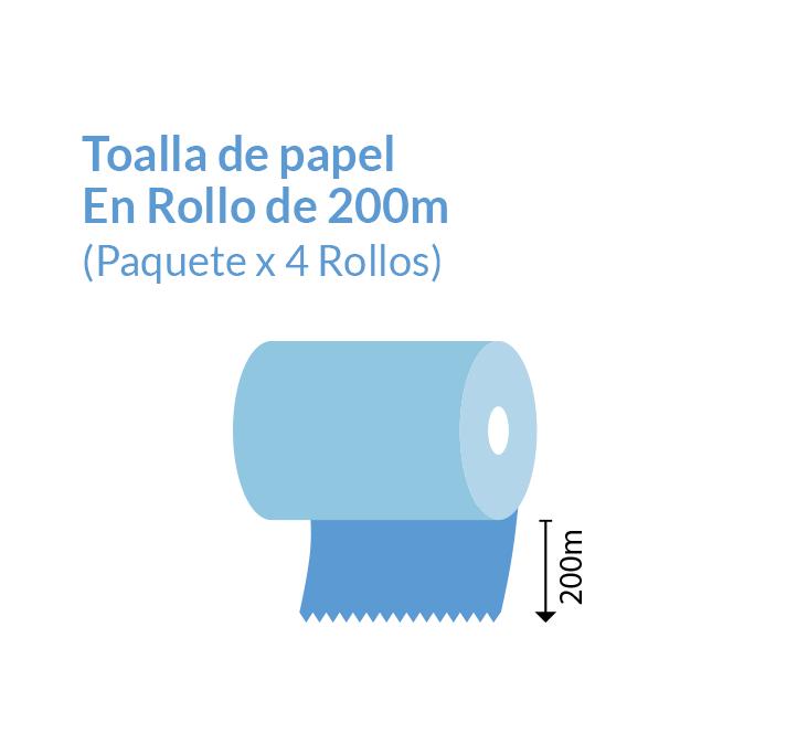 Toallas de Papel en Rollo 200 metros Blanco | Productos de Limpieza | TEXCEL